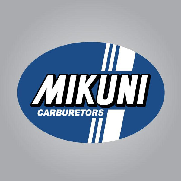 Mikuni Carburetors Decal - Blue