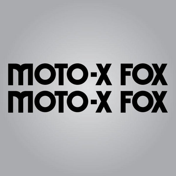 Moto-X Fox Tank Decal Set - 13""