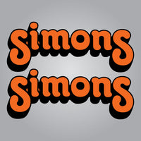 Simons Forks Decal Set - Orange