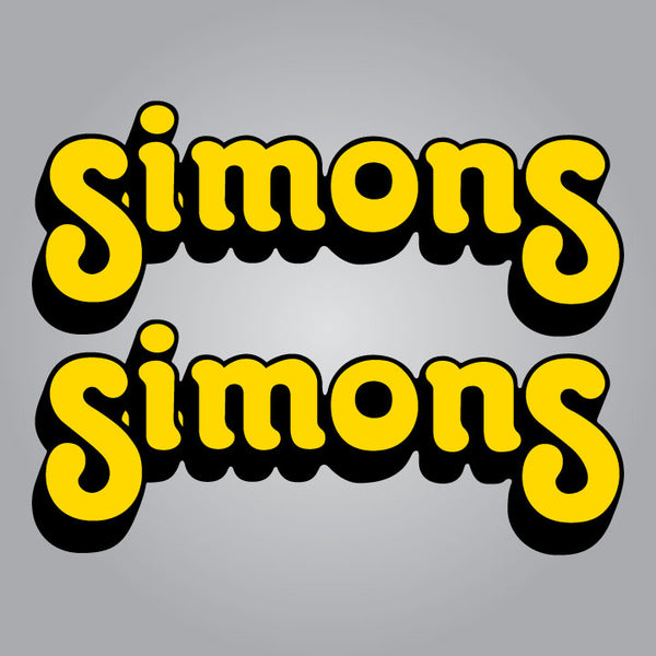 Simons Forks Decal Set - Yellow