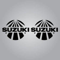 Suzuki Sunburst Fender Decal Set - Black