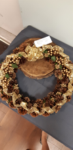 Load image into Gallery viewer, Christmas Pine Cone Wreath