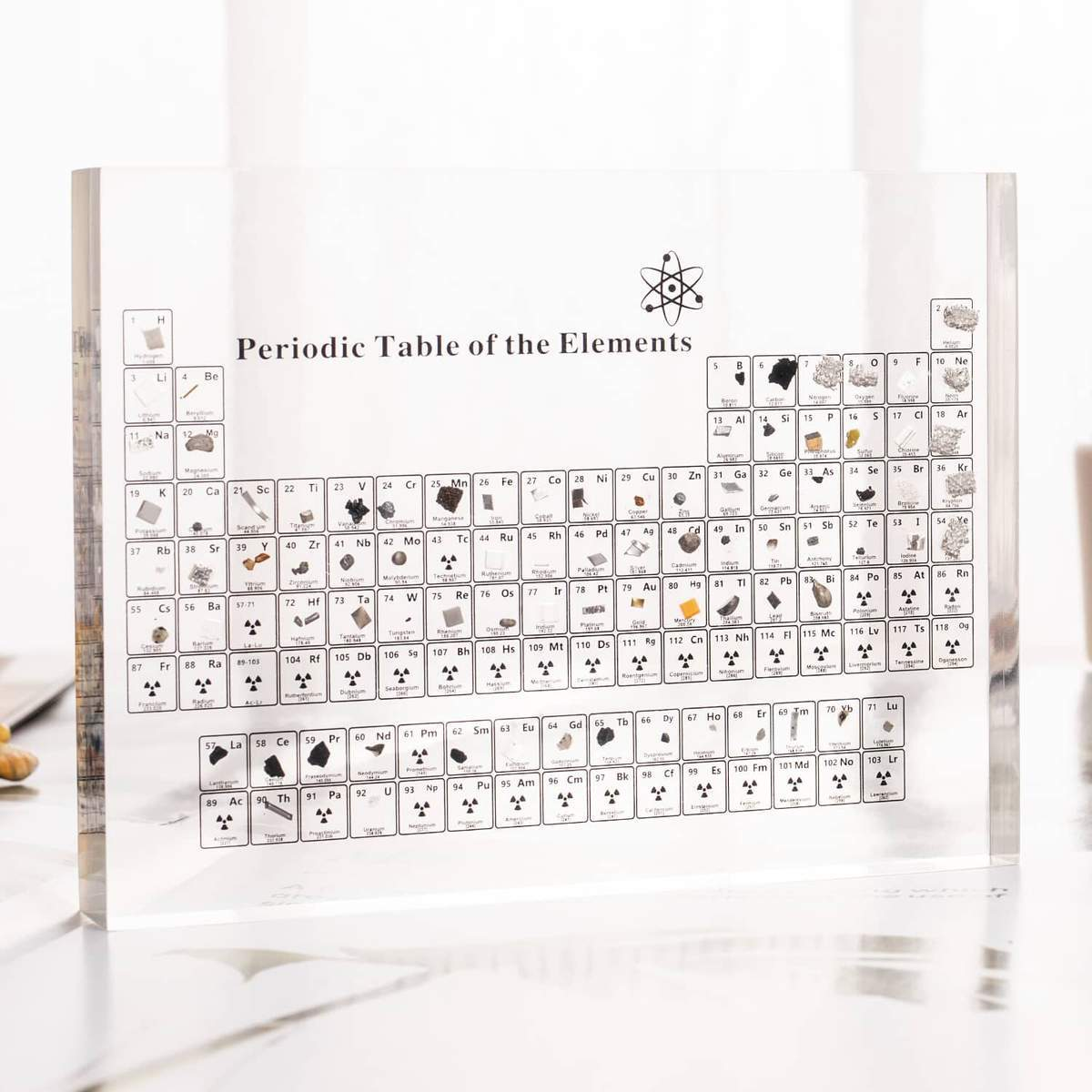 ATOMICA™ 2nd Edition - PERIODIC TABLE WITH REAL ELEMENTS