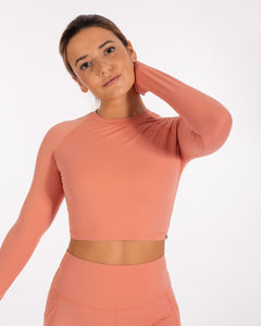 Zen Crop Top - Blush