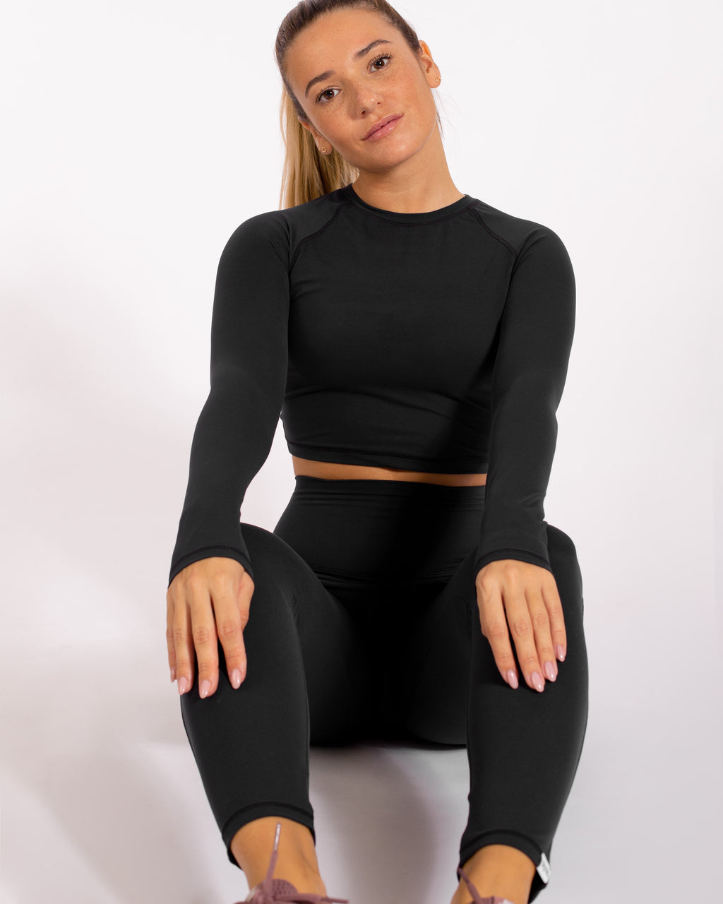 Zen Crop Top - Infinity Black
