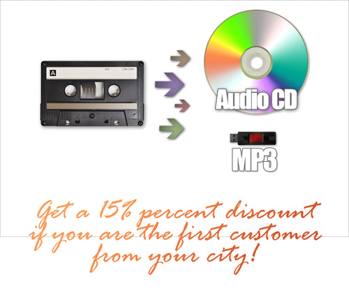 Transfer Cassettes to Digital New City Discount!