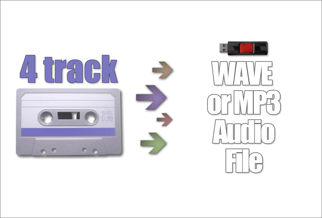 Convert 4-Track Tape to Digital
