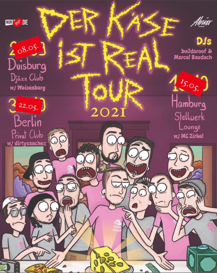 Der Käse ist real Tourticket 2021 (digital)
