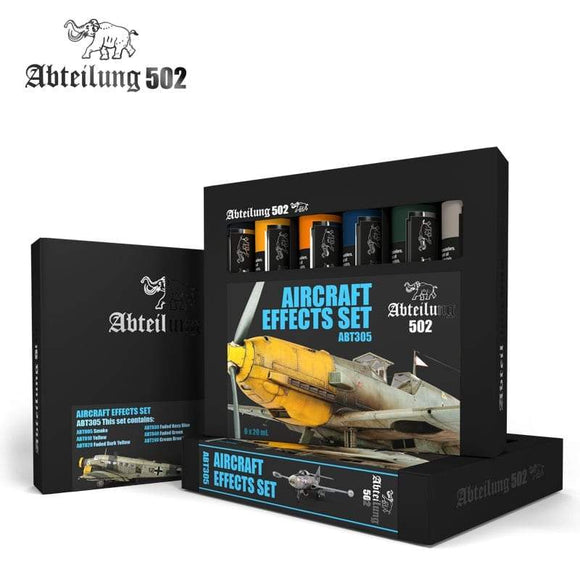 ABT305 Aircraft Effects Set Oil paint set Mworkshop