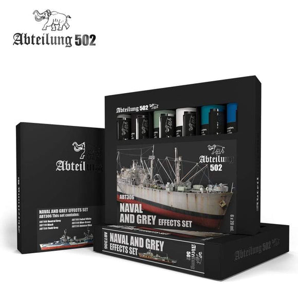 ABT306 Naval and Grey Effects Set Oil paint set Mworkshop
