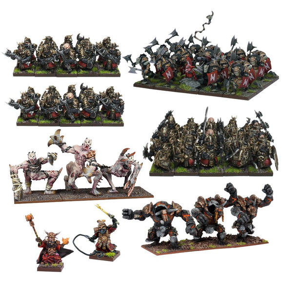Abyssal Dwarf Mega Army Kings of War Mantic Games  (5026730573961)