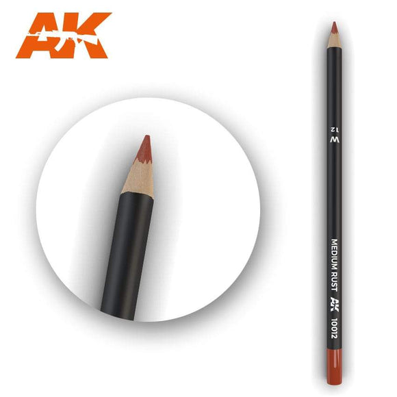 AK10012 Watercolor Pencil Medium Rust Weathering Pencil Mworkshop