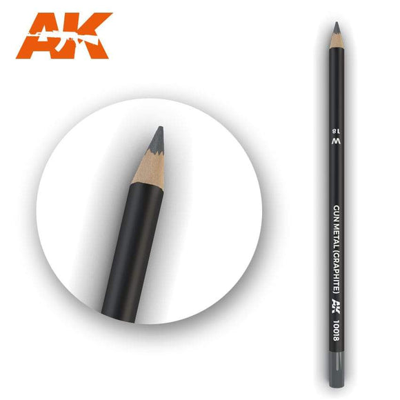 AK10018 Watercolor Pencil Gun Metal (Graphite) Weathering Pencil Mworkshop