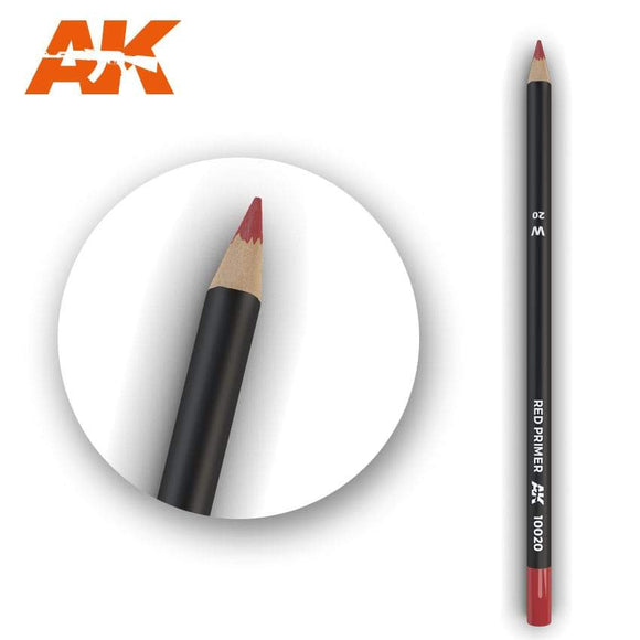 AK10020 Watercolor Pencil Red Primer Weathering Pencil Mworkshop