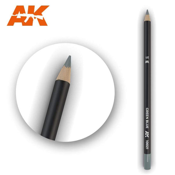 AK10021 Watercolor Pencil Green Blue Weathering Pencil Mworkshop