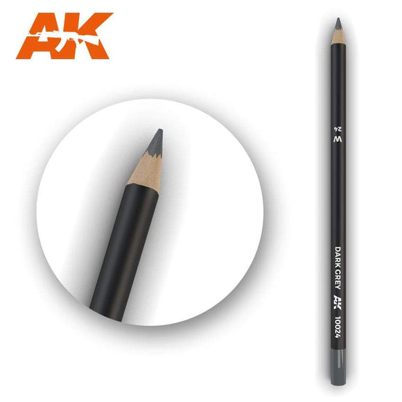 AK10024 Watercolor Pencil Dark Grey Weathering Pencil Mworkshop