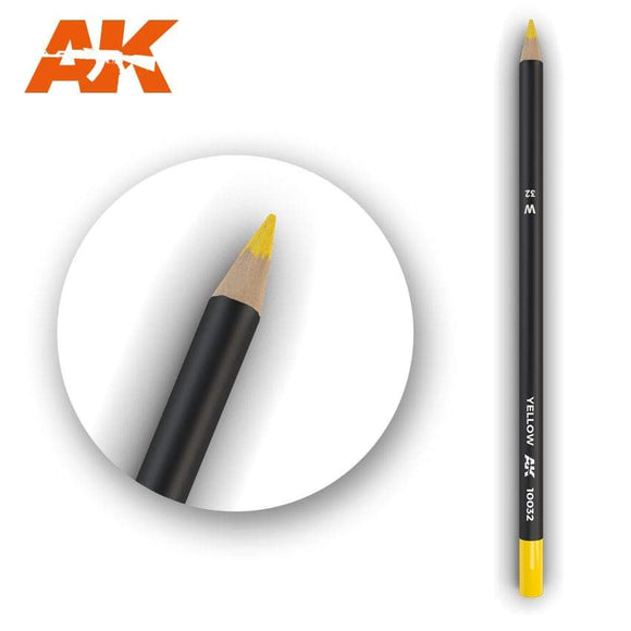 AK10032 Watercolor Pencil Yellow Weathering Pencil Mworkshop