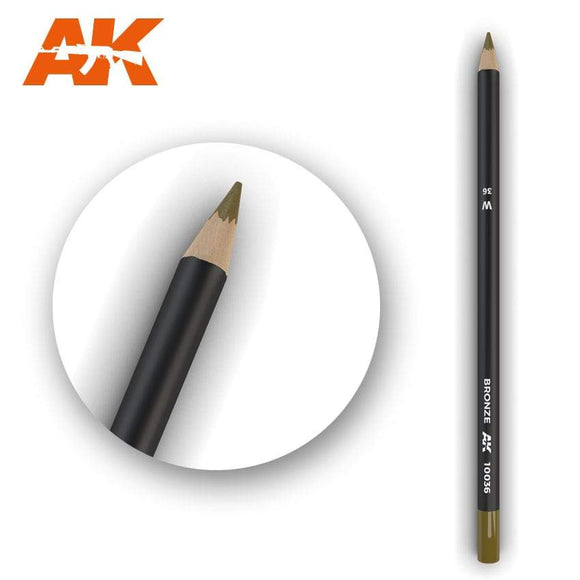 AK10036 Watercolor Pencil Bronze Weathering Pencil Mworkshop