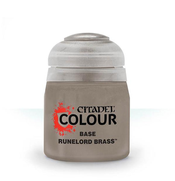 Base: Runelord Brass (12ml) Paint - Base Games Workshop