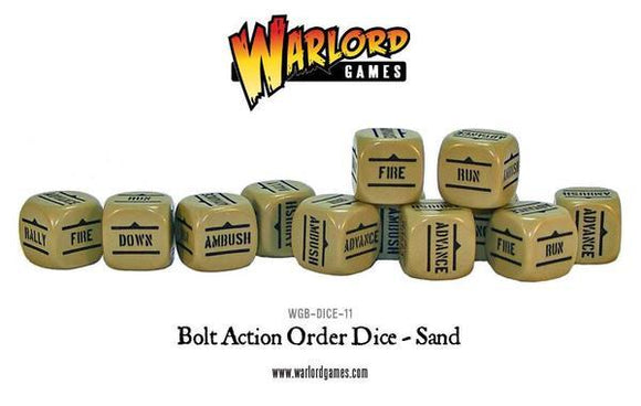 Bolt Action Orders Dice - Sand (12) Warlord Minis Warlord Games