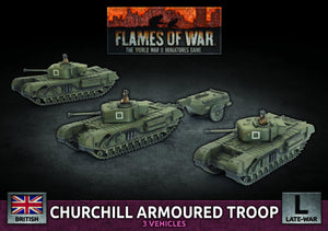 Churchill Armoured Squadron (Plastic) (Bbx56) Flames of War Battlefront  (5026513846409)