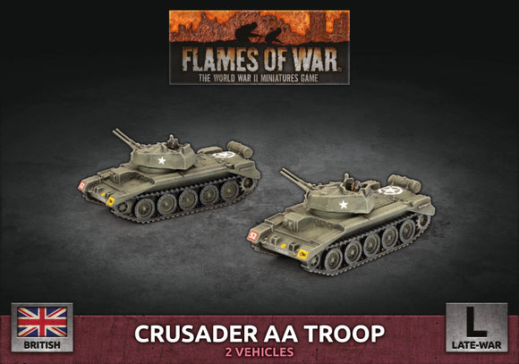 Crusader Armoured AA Troop Flames Of War Battlefront