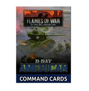 """D-Day American"" Command Cards (X40 Cards) Flames of War Battlefront  (5026725658761)"