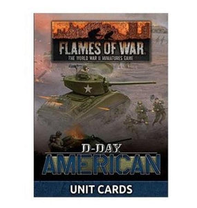 """D-Day American"" Unit Cards (X42 Cards) Flames of War Battlefront  (5026725527689)"