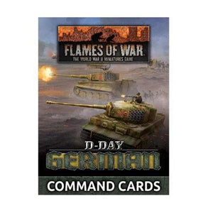 """D-Day German"" Command Cards (X46 Cards) Flames of War Battlefront  (5026725593225)"