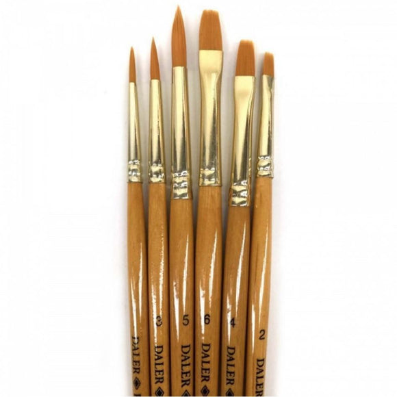 Daler Rowney Simply Brush Taklon Set 6pc Daler Rowney Artfriend