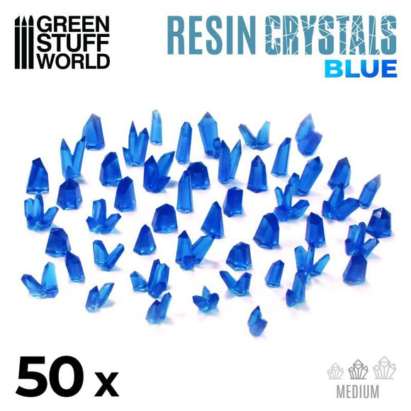 GSW BLUE Resin Crystals - Medium Crystals Green Stuff World