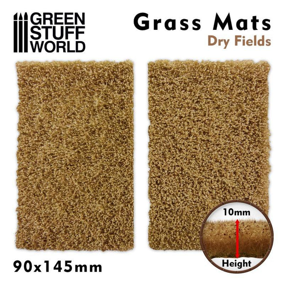 GSW Grass Mat Cutouts - Dry Fields Basing Mats Green Stuff World