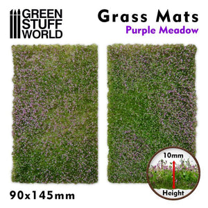 GSW Grass Mat Cutouts - Purple Meadow Basing Mats Green Stuff World