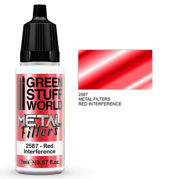 GSW Metal Filters - Red Interference Metal Filters Paints Green Stuff World
