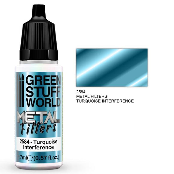 GSW Metal Filters - Turquoise Interference Metal Filters Paints Green Stuff World
