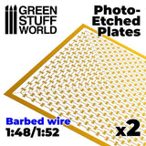 GSW Photo-etched Plates - Barbed Wire Photo-etched Plates Green Stuff World
