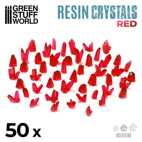 GSW RED Resin Crystals - Medium Crystals Green Stuff World