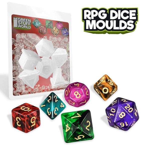 GSW RPG Dice Moulds Moulds Green Stuff World