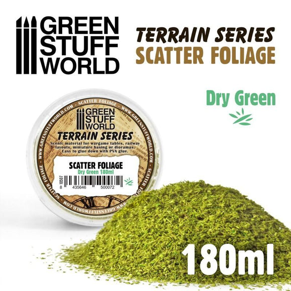 GSW Scatter Foliage - Dry Green - 180 ml Flock Green Stuff World