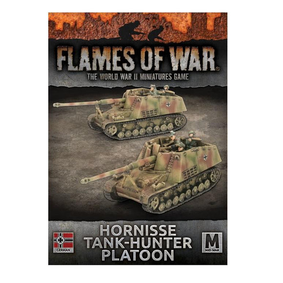 Hornisse Tank-Hunter Platoon Flames of War Battlefront  (5026513715337)