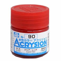 Mr Hobby Clear Red Acrysion Color Paint MrHobby