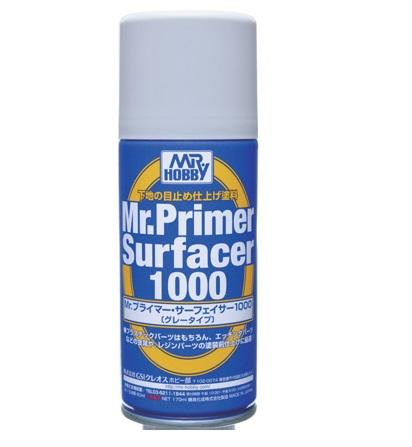 Mr Primer Surfacer 1000 Spray Primer MrHobby