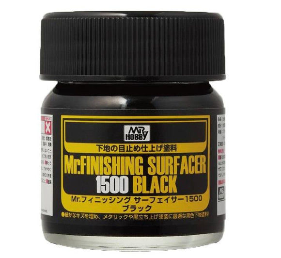 Mr.Finishing Surfacer 1500 Black Primer MrHobby