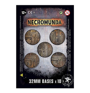 Necromunda 32Mm Bases (X10) Generic Games Workshop  (5026460729481)