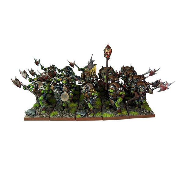 Orc Greatax Regiment Kings of War Mantic Games  (5026523218057)