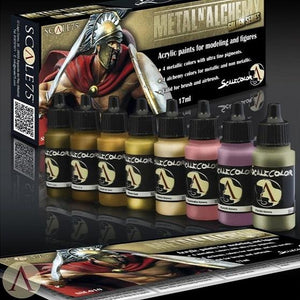 Scale75 Metal And Alchemy Golden Paint Set Scalecolour Scale75  (5026532655241)
