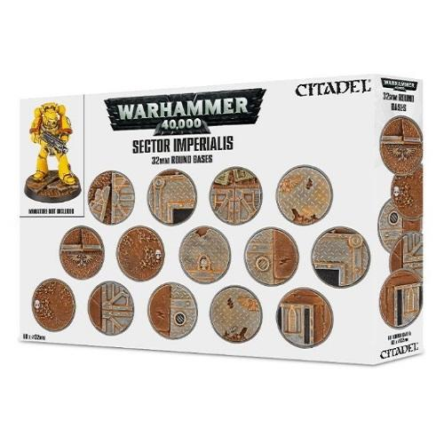 Sector Imperialis: 32Mm Round Bases Warhammer 40000 Games Workshop  (5026690367625)