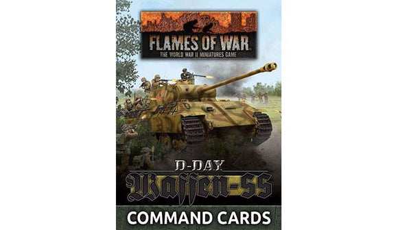 Waffen-SS Command Card Pack Flames Of War Battlefront
