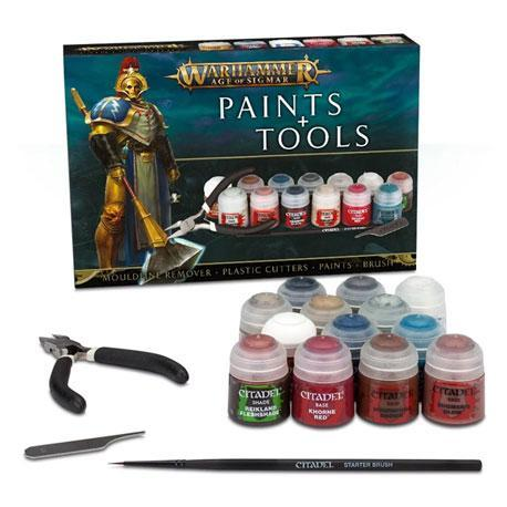 Warhammer Age Of Sigmar Paints + Tools Set Warhammer Games Workshop  (5026700624009)