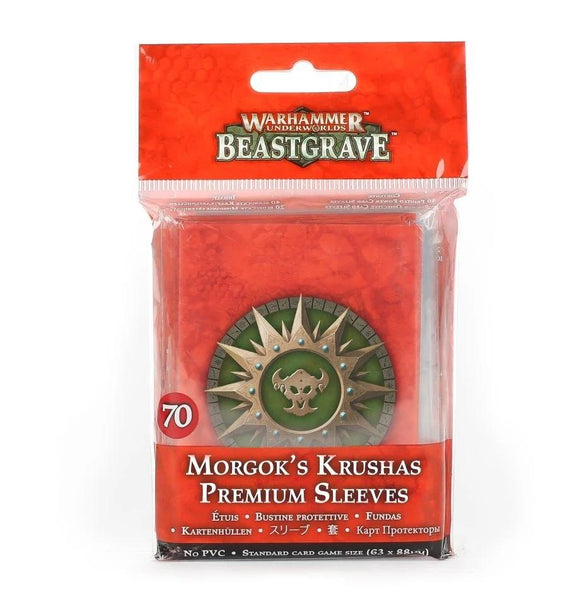 Whu: Morgok'S Krushas Premium Sleeves Underworlds Games Workshop